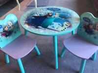 Frozen mini table and chairs