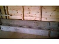 4 Scaffolding Boards 2x 242x22x5cm, 2x 232x22x3.5cm