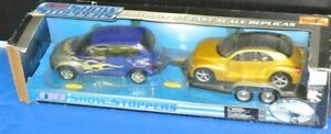 MAISTO SHOWSTOPPERS PT CRUISER AND PRONTO CRUISER W/ TRAILER