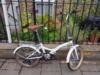 Viking Easy Street Folding Bike Unisex White Shimano Rear Carrier / Accessories