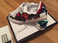 Gucci Ace Low Top Fashion Trainers Sneakers Shoes Footwear Size 5 & 6