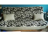 Sofa bed with arm chairs
