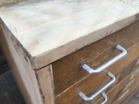 Vintage Art Drawers - Solid beech carcass, visible dovetail joints