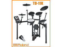 ROLAND TD-11K electronic drum kit & VEX pack. Including wireless dongle, pedal, sticks, manual