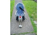 CHILDS, SEAT, FITS TO REAR OF MOST CYCLES, COMPLETE, NICE CLEAN CONDITION.