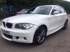 2008 BMW 118d M SPORT, WHITE, 1 years mot FSH