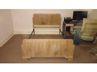 Free - 1930's Art Deco Bed Frame - NO SLATS! Collection only from Mexborough