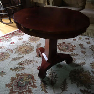 Antique round occasional table