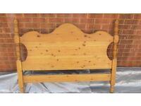 Pine Double Bed Headboard (Free)