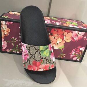 Gucci Blooms Floral Slide Sandals SZ 38 / 6.5US , SZ 44 / 10