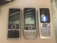 3X Nokia Handsets on O2 ( can be unlocked )
