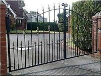 New wrought iron driveway gates £25 per ft