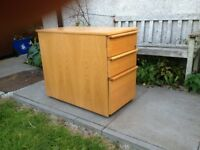 Long Elm Veneered Filing Cabinet Made in Sweden