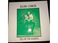 Signed record of Julian Lennon (Son of Beatles legend) autograph