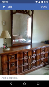 Triple dresser and mirror