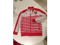 Arsenal sports jacket, Youth Large red & white zip-up. £10