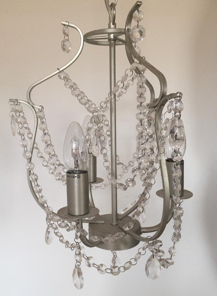IKEA Kristaller Chandelier Pendant Ceiling Light with Bulbs