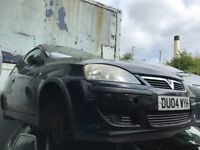 VAUXHALL CORSA C 1.2 PETROL 2004 BLACK 3DR BREAKING FOR SPARES
