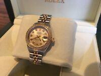 Rolex - ladies datejust (diamond dial & bezel) - Immaculate