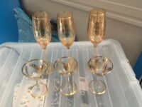 Champagne Flures and Sherry Glasses
