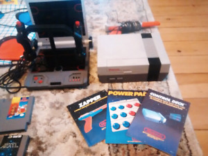 Classic 80's NES console w/ 7 games, powerpad, UForce, and more!