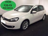 £195.50 PER MONTH - Volkswagen Golf 2.0TDI 140 bhp DSG GT 5 DOOR DIESEL