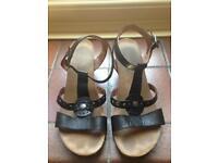 Black Moshulu Sandals Size 41