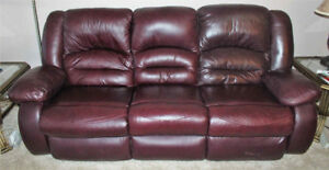 3-seater bonded leather couch recliner