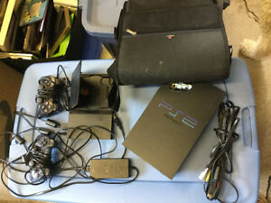 PS 2 with Case & 2 Controllers