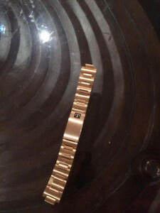Tissot stainless steel gold plated watch band