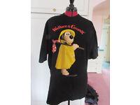 Wallace & Grommit black cotton t shirt size L (18/20) Excellent condition