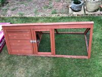 Outdoor Rabbit/Guinea Pig Hutch/Run/Cage