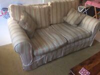 Lovely stripey 2 seater sofa