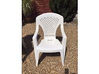 Stackable garden chairs
