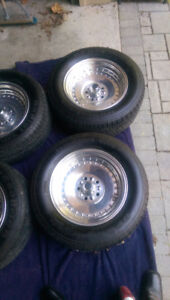 4-15x8.5 Centerline wheels for sale with 225/60/R15 Radial T/A