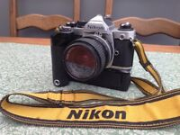 Nikon FM2 with motor drive.