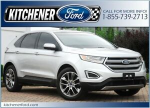 2015 Ford Edge Titanium PANO ROOF/NAVI/HTD&CLD SEATS/RMT STAR...
