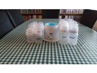 16 avent baby bottles with bottle warmer