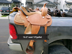 Saddles 4 sale - antique, western, Aussie, & 1 to fit your draft