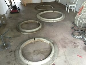 Cement landscaping tree rings