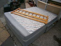 DOUBLE DIVAN BED WITH DRAWERS & PINE HEADBOARD IN YEOVIL