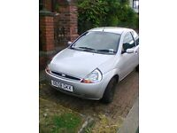 Ford KA. Low mileage for year. New clutch. Low tax & ins. MOT early September. Ideal first car.