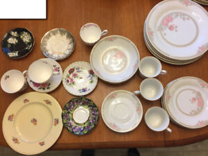 Various pieces of patterned China