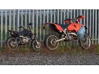 Ktm exc 2004 long mot 125cc