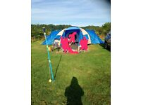 Tent 8 Man Alpine Pro Gold. Used Twice. Excellent Condition