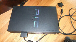 ps2 console and 2 controllers in great cond