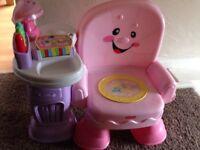 Pink fisher price singing chair