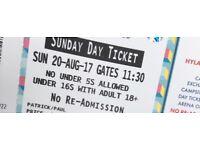 X2 V Fest tickets Sunday JAY Z headline day tickets only no camping X 3 tickets