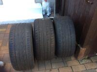 3 Part worn tyres 245/45/17 95w