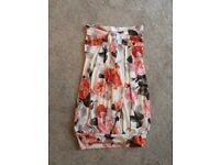 Women's flowery bandeau top, size 8